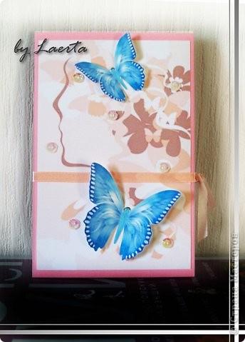 Такая вот довольно простая, но по-моему милая открытка для мамы подружки на день рождения:) фото 3