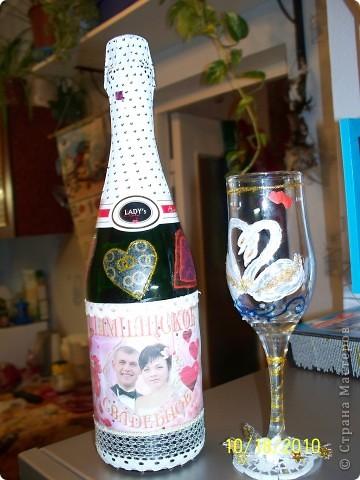 Именная бутылка шампанского для молодоженов(вариант жених) фото 2
