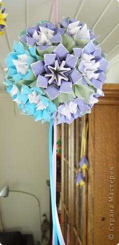 Кусудама фиолетово-голубая 2