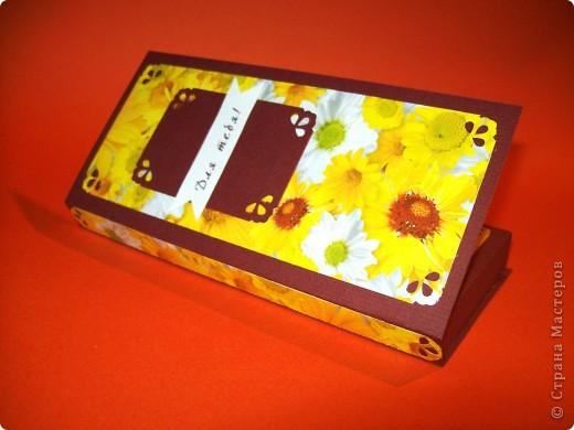 Такая вот коробочка-открытка для шоколадки:) Идея не моя фото 4