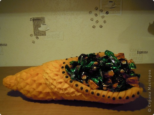 Такая себе конфетница из тыквы))))))