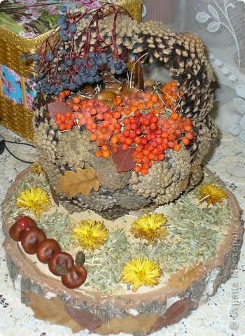 Осенние поделки своими руками из природного материала на конкурс