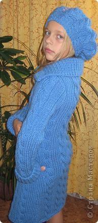 Комплект выполнен из полушерсти Yarn Art . Спицами № 5 фото 2