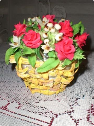 Корзинка цветов фото 1