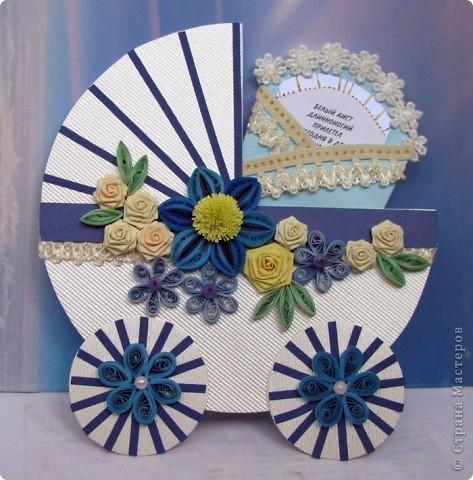 открытка для мамы новорожденного мальчика, с конвертом для денег и поздравлениями фото 1