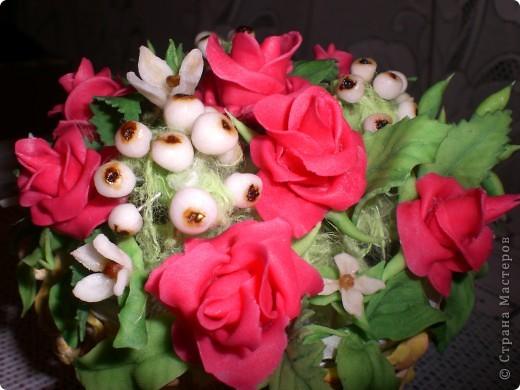 Корзинка цветов фото 2