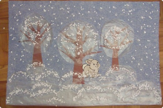 Зима рисунок своими руками