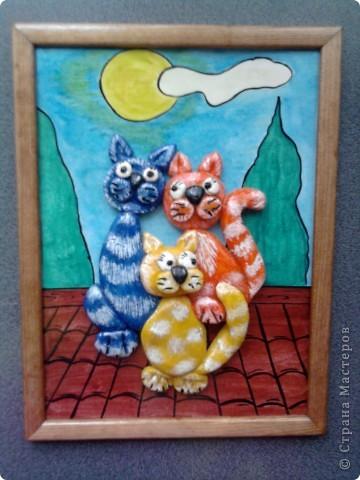 СПАСИБО Марине Архиповой.http://stranamasterov.ru/node/88953 Посмотрела ее котов ,очень понравились. Решила попробовать. Вот что получилось.