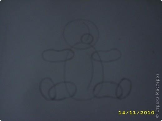Вот такой мишка получился. Может кому-нибудь пригодится как нарисовать мишку игрушечного. Бывает нужно, а как нарисовать не знаешь. фото 3