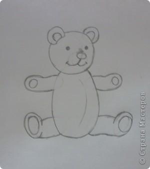 Вот такой мишка получился. Может кому-нибудь пригодится как нарисовать мишку игрушечного. Бывает нужно, а как нарисовать не знаешь. фото 5