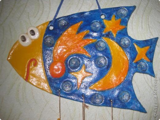 """Рыбка """"Полянка"""". Купила флуоресцентные акриловые краски, решила их опробовать в росписи этой рыбки. фото 4"""