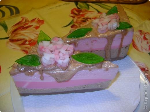 Тортик с малиновым суфле и шоколадным кремом