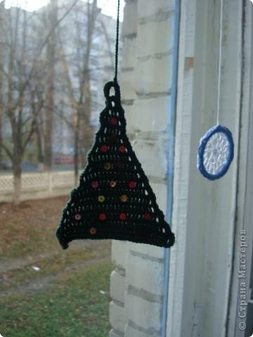 Снежинка, круглая основа - браслет. фото 8