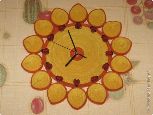 Вот такие у меня получились часы-солнышко))) фото 1