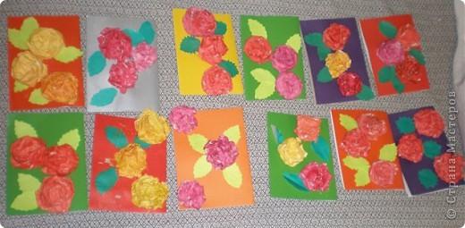 Такие открытки в подарок мамам мы делали с детьми старшего дошкольного возраста (5-6 лет) фото 3