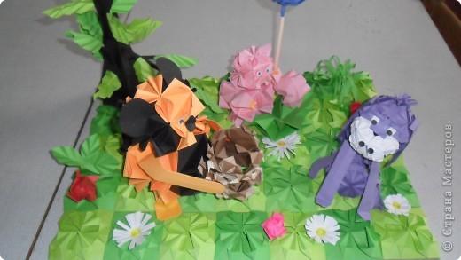 Работа на конкурс.  Сюжет из мультфильма: винипух и пятачок пришли поздравить ослика с днем рожденья. фото 6