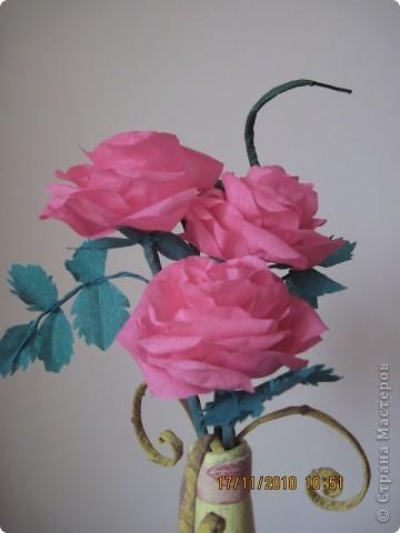 Бумажные розы фото 2