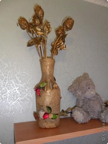 ваза из бутылки фото 1
