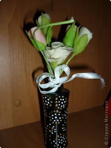 Букет Каприз(переделка)Добавила розочек и переделала вазочку. фото 3