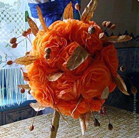 Солнечное дерево подруге на день рождения. Фото со вспышкой вечером. фото 3