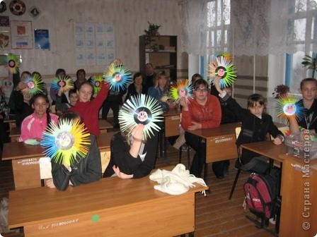 Сегодня проводила открытое занятие, делали солнышко, спасибо за идею Каликова Надежда... фото 1