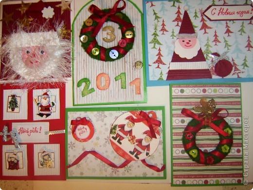 Здесь  http://irinaje.blogspot.com/2010/11/5.html можно ознакомится с 5 МК новогодних открыточек которые мы делали с детками в разных техниках. фото 1
