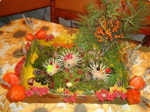 Поделки из природного материала для детского сада композиция