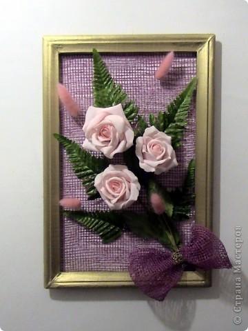 """Ассамбляж - Несколько панно из роз и свеча с розами """" Поиск мастер классов, поделок своими руками и рукоделия на SearchMastercla"""