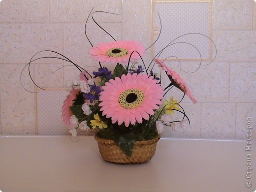 Композиции из кал, васильков, гербер, маков, роз..... фото 5