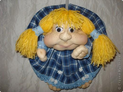 Эту куклу я сделала не из колготок ,а из лайкры. Мне понравилось работать с тканью,она прочнее. фото 1