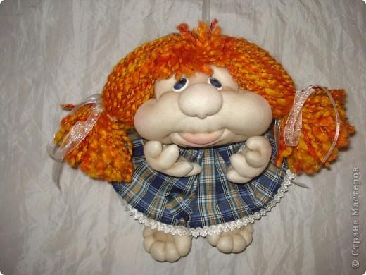 Эту куклу я сделала не из колготок ,а из лайкры. Мне понравилось работать с тканью,она прочнее. фото 2