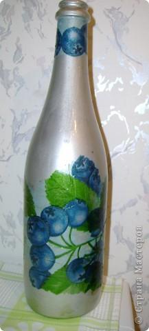 бутылка в стиле декупаж  фото 3