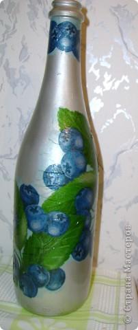 бутылка в стиле декупаж  фото 1