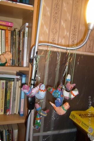 Вот еще сшила куколку , котика и птичек. фото 1