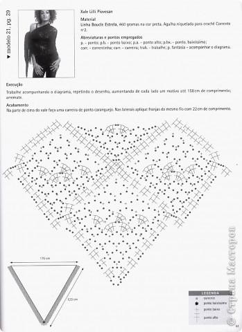 схема рисунка шали фото 2