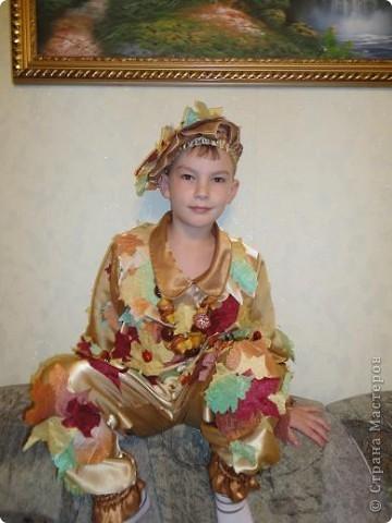 Вот такой костюм  для сына я сшила на осенний праздник. фото 2
