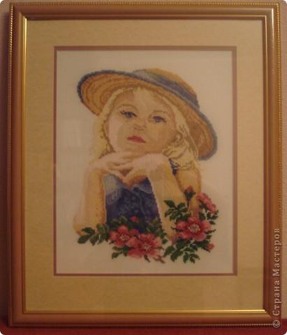 """Схему взяла из журнала """"Чудесные мгновения"""" (2008 г. февраль).  Девочка похожа на мою внучечку и отправится ей в подарок."""