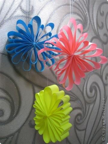 Вот такие интересные новогодние украшения мы сделали с детьми.  фото 1