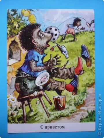В моей коллекции старых открыток нашлись ёжики. Хочу поделиться картинками, может кому-то пригодятся идеи для солёного теста, фелтинга или кукол (и т. д.) фото 16