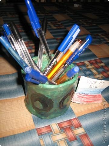 Карандашница из глины фото 2