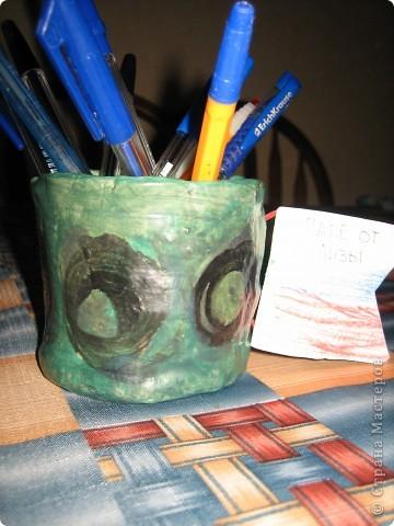 Карандашница из глины фото 1