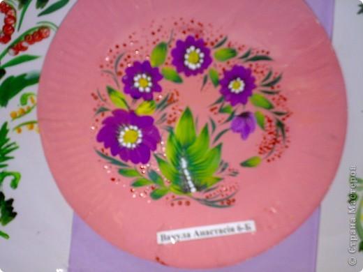 Первая в этом учебном году выставка детских работ в стиле петриковской росписи фото 2