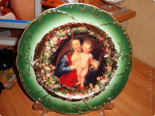 Декоративная тарелка фото 2