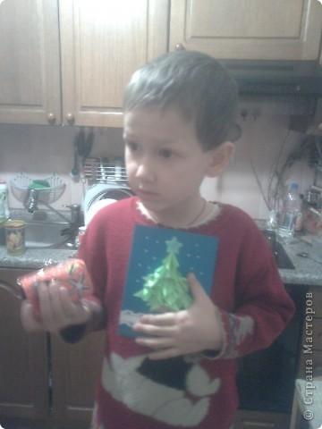 открытка рождественскя Елочка фото 2
