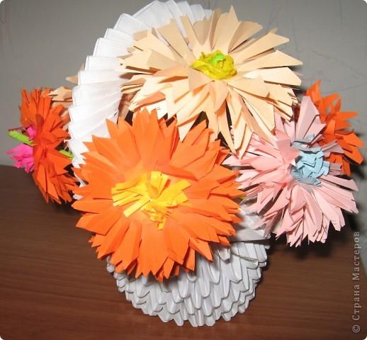 Модульное цветы для мамы бумага