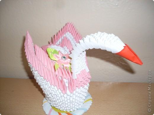 """Модульное оригами """"Лебедь"""". Ущё одна из лучших моих работ в технике модульное оригами."""