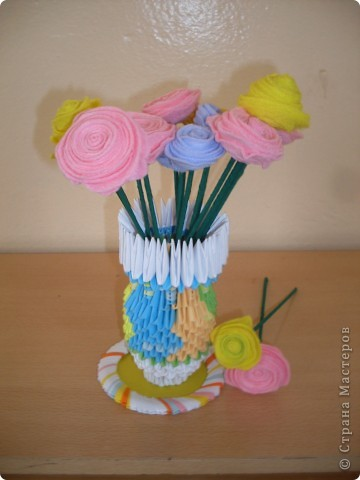 """""""Розы""""  Эти цветы были сделаны из универсальных салфеток """"Русалочка"""""""