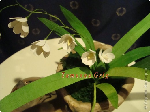 Вот такая орхидея получилась из гофрированной бумаги. Результатом довольна на все 100%. фото 2