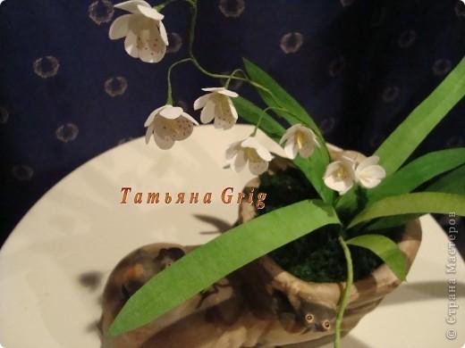 Вот такая орхидея получилась из гофрированной бумаги. Результатом довольна на все 100%. фото 4