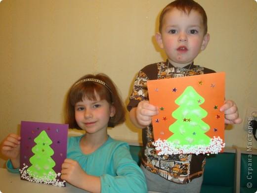 эти открытки Полина и Семён подарят бабушкам и дедушкам на Новый Год фото 1